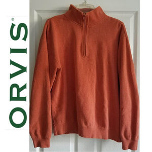 ORVIS Medium-Weight Men's 1/4 Zip Pullover - L